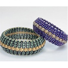 SuperDuo Duets Honeycomb Bangle, A Free Pattern by Katie Dean