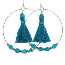 Blue Tassel Earrings - Free Pattern from Beadalon