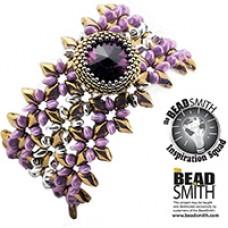 Tiana GemDuo Bracelet, a free pattern designed by Erika Sandor