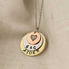 Tiers of Joy Necklace - A Free Metal Stamping Tutorial from Impress Art
