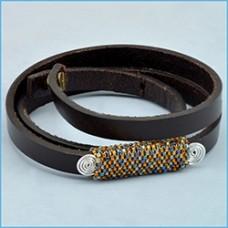 Wanderlust Leather Bracelet - A Free Pattern From Beadalon