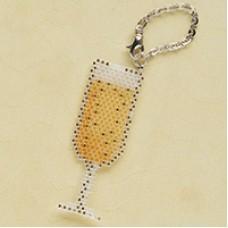 Miyuki Delica Champagne Glass Charm, a Free Pattern from Miyuki