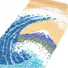 Miyuki Delica Mt. Fuji Beyond The Waves Mini Tapestry, a Free Pattern from Miyuki