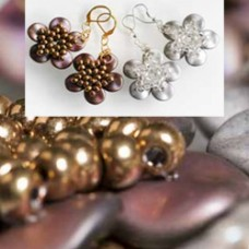 Ripple Constellation Earrings - a Free Pattern by Preciosa