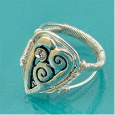 Wire Wrapped Heart Ring, a Free Pattern by Beadalon
