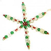 Wire forms for making snowflake ornaments