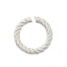 Non Tarnish Silver 18 Gauge Spiral Chain Maille Ring, I.D 3.18mm, 64 Pcs