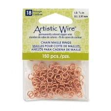 Natural 18 Gauge Chain Maille Ring, I.D 4mm, 150 Pcs