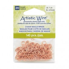 Natural 20 Gauge Chain Maille Ring, I.D 4.7mm, 140 Pcs