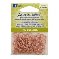 Natural 18 Gauge Chain Maille Ring, I.D 5.9mm, 100 Pcs
