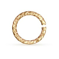 Non Tarnish Brass 18 Gauge Spiral Chain Maille Ring, I.D 3.18mm, 64 Pcs