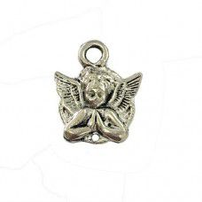Casting Angel Charm, Antique Silver