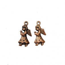 Angel Charm, Brass Colour, Pack of 2