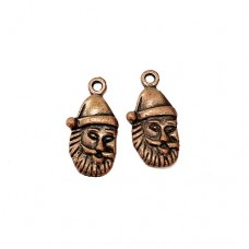 Santa Claus Charm, 23mm, Brass Colour, Pack of 2