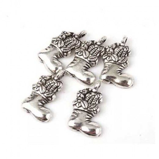 Stocking Charms, Pack of 2, Silver Colour