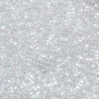 Miyuki Size 10/0 Twist Hex Cut Beads, Approx. 20g, Clear Transparent Rainbow, Code 10TW-250