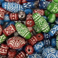 Mixed Clay Beads, Approx 50 Grams