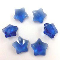 12mm Crystal Blue Star Pack of 3