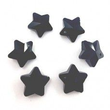 12mm Crystal Black Star Pack of 3