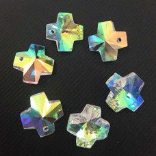 10mm Crystal AB Kisses Pack of 6