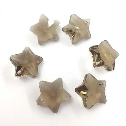 12mm Crystal Black Diamond Star Pack of 3