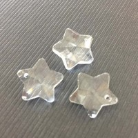 12mm Crystal Star, Pack of 3