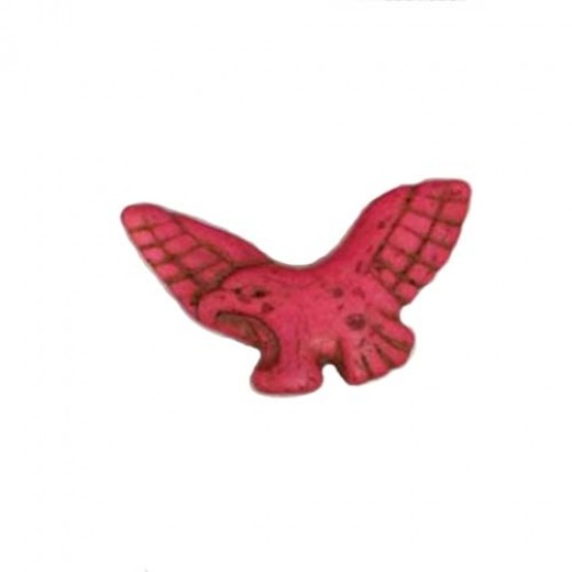 50mm Pink Dyed Turquoise Eagle Pendant Beads, Pack of 2