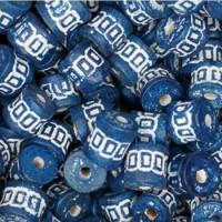 Medium Clay Tube Beads, Dark Blue, Pack of 10