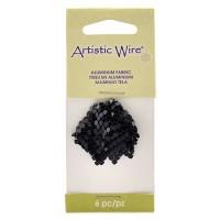 26 x 26mm Beadalon Aluminium Fabric, Black, Pack of 6