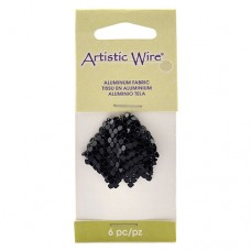 26 x 26mm Beadalon Aluminium Fabric, Black, Pack of 6