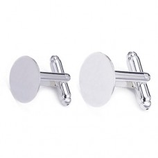 Cufflink Base - glue on. Two pairs