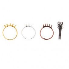10 Loop Adjustable Bling Ring, Silver, Pack of 4