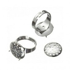 Ring Blank, Disc with Holes, Pack of 3