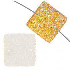 Dazzle-it Resin Sew-On Sugar Stone Square, 25mm, Gold AB