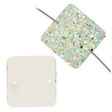 Dazzle-it Resin Sew-On Sugar Stone Square, 25mm, Crystal AB