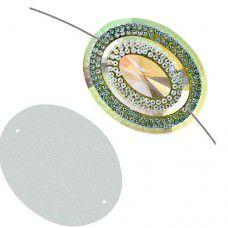Dazzle-it Resin Glitz Sew-On Sugar Stone Oval 40 x 50mm, Crystal AB