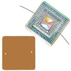 Dazzle-it Resin Glitz Sew-On Sugar Stone Square 40mm, Crystal AB