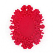 38mm Large Resin Flat Back, Fuschia