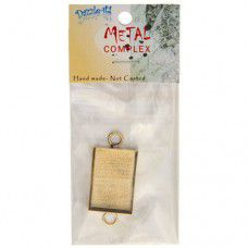 100% Brass Handmade Bezel, Rectangle Link, Use with Interchangeable Bracelet