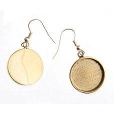 100% Brass Handmade Bezel, Earrings, 19 x 2mm