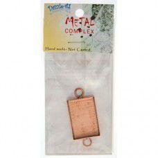 100% Copper Handmade Bezel, Rectangle Link, Use with Interchangeable Bracelet