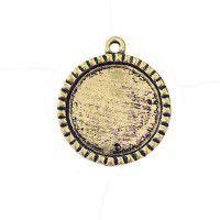 Scalloped 31 x 36mm Round Bezel, Gold colour