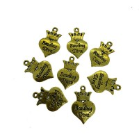 Beading Diva Charms, Gold Colour, 24 x 16mm, Pack of 8