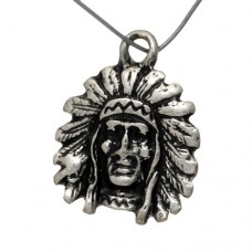 Chief Antique Silver Pendant