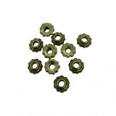 Gold Wheel Spacer Beads, 8mm, Pack of 10