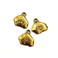 Joy Tag, Antique Gold