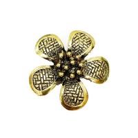 Large Flower Pendant, Gold Colour, 40mm