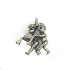 Musical Pixie Charm, Antique Silver