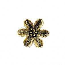 Large Flower Pendant, Gold Colour, 27 x 31mm