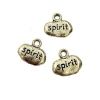 Spirit Tag, Antique Silver